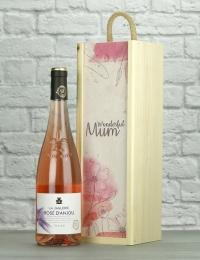 Wonderful Mum Rosé Wood Box Gift