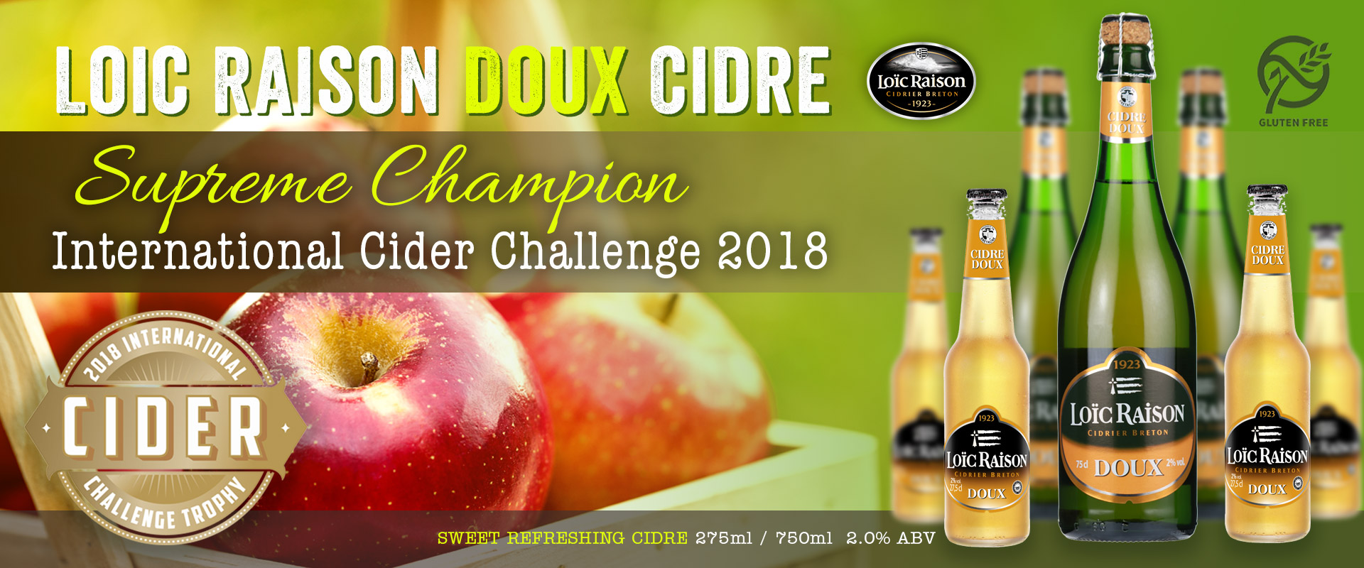 Loic Raison Supreme Champion Cidre