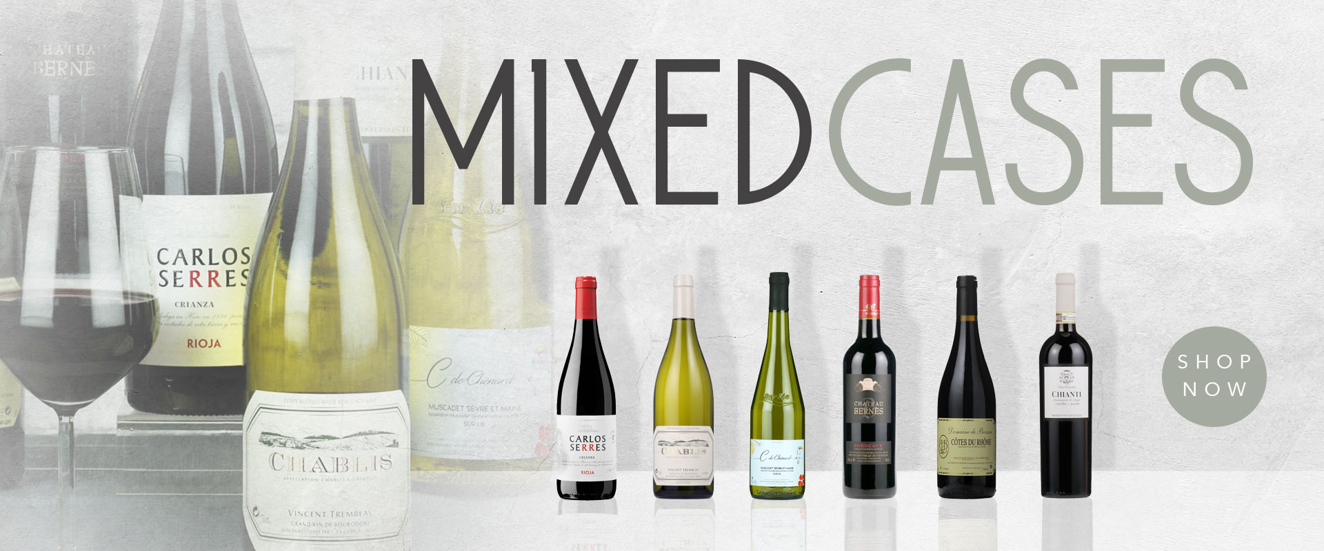 Mixed cases of wine